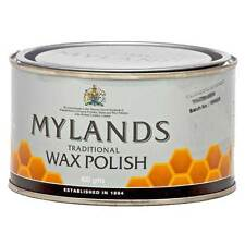 MYLANDS WAX FURNITURE POLISH MADE WITH REAL BEES WAX - CLEAR COLOUR - 400GM TIN