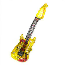 Golden Inflatable Blow Up Guitar Rock Neon Pop Party Fancy Dress Disco new