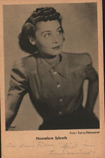 OLD POSTCARD ACTRESS GERMANY HANNELORE SCHROTH . YEARS 1940 .SEE MY STORE CC1272