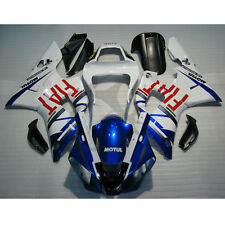 Blue White FIAT Injection ABS Fairing Bodywork For Yamaha YZFR1 YZF R1 2000-2001