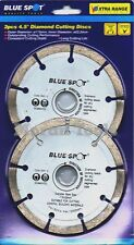 "Angle Grinder Diamond Disc Cutting Discs Blades 2pc 115mm 4-1/2"" General Purpose"