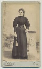 CDV Foto Paris -Dame in feiner Mode (Y120)