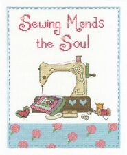 "Sewing Mends The Soul Cross Stitch Kit - DMC - BK 1433 - 8"" x 10"" - 14 Count"