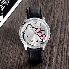 Hello Kitty Girls Children Watch Cartoon Cute Hour Quartz Watch Leather