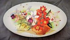 """VINTAGE WALTER'S PALM TOFFEE LTD.""""ORCHIDS"""" DESIGN TIN - MADE IN LONDON ENGLAND"""