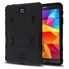 "Black Defender Box Case w/ Stand Cover for Samsung Galaxy Tab 4 8 8.0"" SM-T330NU"