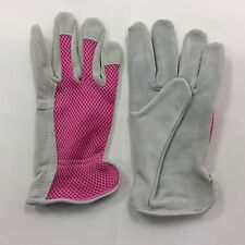Ladies Suede lether (brushed) Garden Glove, Size Medium, Color Pink