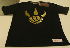 Toronto Raptors NBA T Shirt Basketball Mitchell & Ness Claw Black Gold Logo S