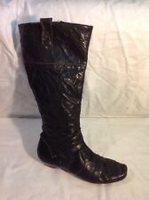 Dune Black Knee High Leather Boots Size 37