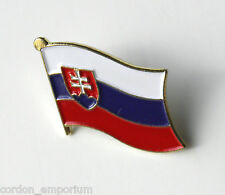 SLOVAKIA SINGLE FLAG LAPEL LAPEL PIN BADGE 1 INCH