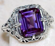 3CT Color Changing Alexandrite 925 Solid Sterling Silver Ring Sz 9, F7-7