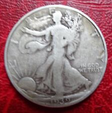 United States, Walking Liberty Half Dollar, 1939D,   Very Fine ++