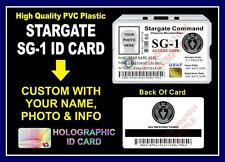 Stargate SG-1 ID Badge / Card Prop - PVC PLASTIC - Custom w/ Your Photo & Info
