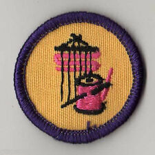 Retired Girl Scouts Junior Badge Patch 1980 WTE~Purple~Textiles and Fibers