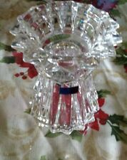 Waterford CRYSTAL Candle Holder/Vase MARQUIS Glass  Wedding Unity Candle