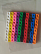 Maths link cubes (NEW pack of one hundred cubes 10 x 10 different colours)