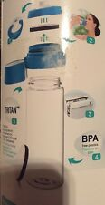 MAVEA MicroDisc Water Filter Bottle- Water Bottle- Blue Water Bottle-