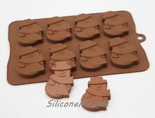 8 cell Large Snowman 30g Chocolate Candy Silicone Bakeware Mould Cookie Soap Wax