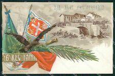 Militari 16º Reggimento Fanteria Palestro cartolina XF0058