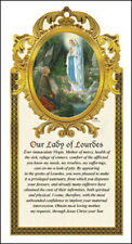 OUR LADY OF LOURDES WOODEN PLAQUE - CATHOLIC CANDLES STATUES PICTURES LISTED