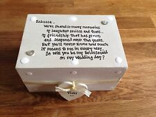 Shabby Personalised Chic Gift Will You Be My Bridesmaid? Gift Trinket Box