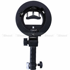 Handheld Speedlight Flash Holder for Bowens Chuck Reflector Beauty Dish Snoot