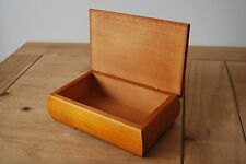 PLAIN  WOODEN JEWELLERY BOX,  IN BROW COLOUR