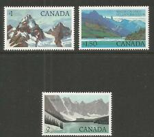 Canada 1982-85 National Parks hivals--Attractive Landscape Topical (934-36) MNH