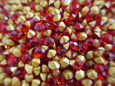 20 Grs. Machine Cut Crystal Rhinestones - SS 12 - PP 24 2 Packs Light Siam