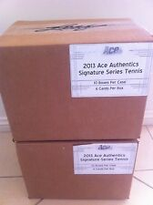 2013 ACE TENNIS SIGNATURE SERIES FACTORY SEALED CASE-10 BOXES FEDERER/SHARAPOVA