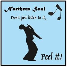 NORTHERN SOUL (FEEL IT!) - SET OF 4 COASTERS - BRAND NEW - GIFT / PRESENT