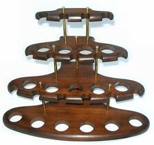 15 Smoking Pipe Stand Rack Holder, Pear Wood, Brand New, Handmade