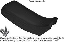 CARBON FIBRE VINYL CUSTOM FITS SUZUKI TSX 125 85-88 DUAL SEAT COVER ONLY
