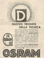 W4673 OSRAM - Nuovo trionfo della tecnica - Pubblicità del 1934 - Vintage advert