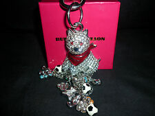 FAB BUTLER & WILSON CRYSTAL SCOTTIE DOG KEYRING/HANDBAG CHARM QVC NEW BOXED