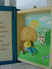 NURSERY RHYME Mother GOOSE 3d BOOK ORNAMENT little boy blue Hallmark CHRISTMAS w