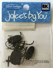 BEETLE BUGS Embellishments(3pc) Jolee's•Halloween•Creepy•Crawling •Black•Insects