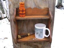 Old Trappers Cabin Primitive Weathered Shabby Rustic Pine Wood Wall Shelf