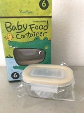 Glasslock YumYum Safety Tempered Glass Weaning Baby Food Container 6pcs