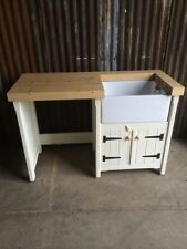 Pine Rustic Kitchen Belfast Butler Sink Unit Appliance Cover Utility Room