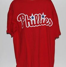 Philadelphia Phillies Majestic Youth Red T Shirt Size Large