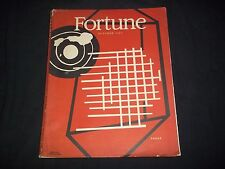 1945 OCTOBER FORTUNE MAGAZINE - BEAUTIFUL ILLUSTRATED FRONT COVER - G 1703