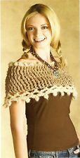 PRETTY Warm Your Shoulders Soft Shrug/Apparel/ Crochet Pattern INSTRUCTIONS ONLY