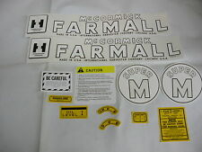 IHC Farmall International Super M Farmall Tractor Decal Set - NEW FREE SHIPPING