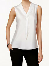 Tahari ASL New Sleeveless Tie-Neck Blouse Size L MSRP $56 #R 41 (L)