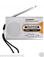 Emergency Radio AM/FM Ultra Slim Compact Light Weight Great for Survival Kits