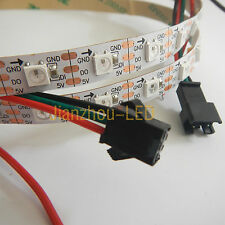 1M WS2812B IC Dream Color 5050 SMD RGB 60 LED Strip String Addressable DC 5V NP