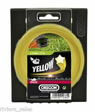 15M STRIMMER LINE 1.6mm FOR BOSCH ART30GSD OREGON YELLOW STARLINE TRIMMER
