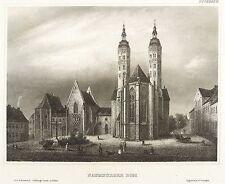 Naumburg-DOM-ostfassade con Domplatz-MEYER 'S universo-ACCIAIO CHIAVE 1863