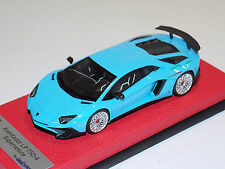 1/43 Looksmart Lamborghini Aventador SV LP750-4 Baby Blue / Italian SV Leather